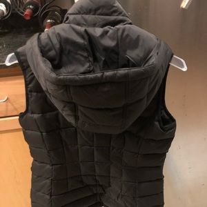 Michael Kors Jackets & Coats - Michael Kors Black Hooded Vest in Black